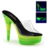 DELIGHT-601UVS Clear/Neon Multi Green Rhinestones